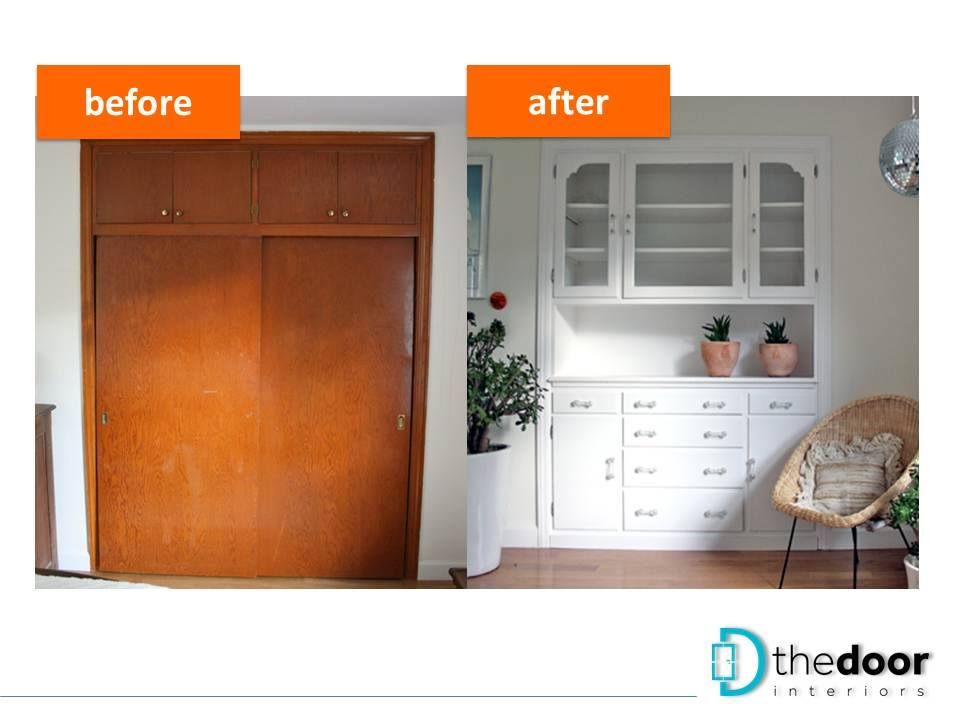 Makeover Of A Built-in Cabinet
